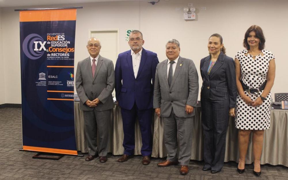 rueda de prensa IX Encuentro de Redes de Educación Superior y Consejos de Rectores de América Latina y el Caribe