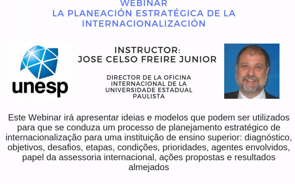 """Celso Freire webinar RIESAL  """"Planejamento Estratégico da Internacionalização"""""""