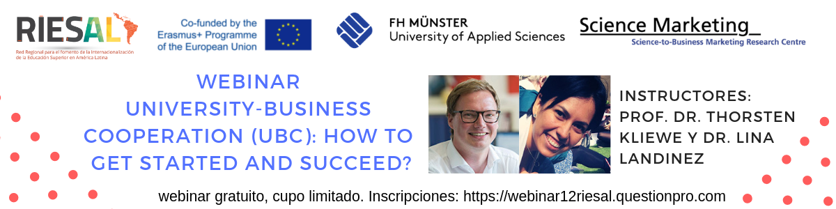 Webinar Uneversity-Business cooperation (UBC): How to get started and succeed?